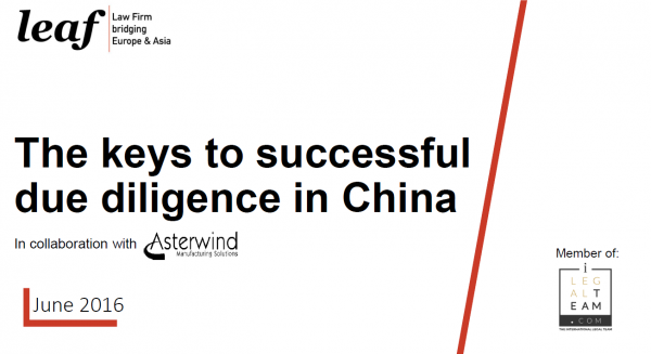 The keys to successful due diligence in China